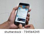 chiang mai  thailand   oct 03 ...   Shutterstock . vector #734564245