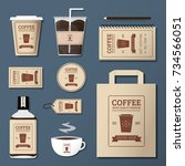 coffee shop logo corporate...   Shutterstock .eps vector #734566051