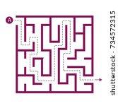 labyrinth shape design element. ... | Shutterstock .eps vector #734572315
