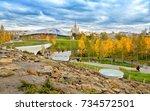 moscow  russia   october 10 ... | Shutterstock . vector #734572501