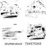 scratch grunge urban background....   Shutterstock .eps vector #734575345