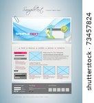 vector website design template | Shutterstock .eps vector #73457824