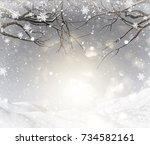 3d render of a christmas... | Shutterstock . vector #734582161