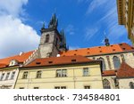 the church of the virgin mary... | Shutterstock . vector #734584801