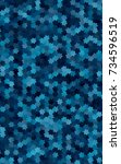 dark blue modern geometrical... | Shutterstock . vector #734596519