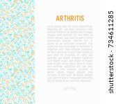 arthritis concept with thin... | Shutterstock .eps vector #734611285