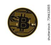 b for billionaire  bitcoin... | Shutterstock .eps vector #734612005