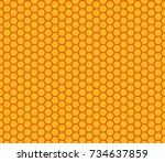honey comb pattern seamless... | Shutterstock .eps vector #734637859