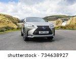 llyn brianne  wales  uk ... | Shutterstock . vector #734638927