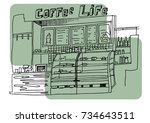 hand drawn vector illustration...   Shutterstock .eps vector #734643511