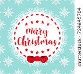 template christmas card  for... | Shutterstock .eps vector #734645704