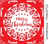 template christmas card  for... | Shutterstock .eps vector #734645725