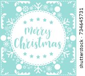 template christmas card  for... | Shutterstock .eps vector #734645731
