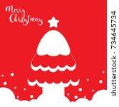 template christmas card  for... | Shutterstock .eps vector #734645734