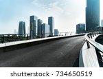 highway and city modern... | Shutterstock . vector #734650519