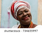 brazilian woman of african... | Shutterstock . vector #734655997