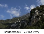 mountains of greece. mount... | Shutterstock . vector #734656999