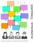 2018 creative people and speech ...   Shutterstock .eps vector #734662405
