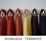 fabric material board | Shutterstock . vector #734666425