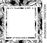 frame with flowers for... | Shutterstock .eps vector #734671354