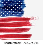 usa abstract flag brushed... | Shutterstock .eps vector #734675341