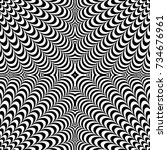 optical illusion abstract... | Shutterstock .eps vector #734676961