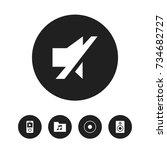 set of 5 editable sound icons....