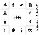 set of 13 editable kin icons....