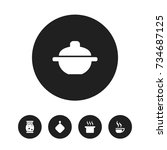 set of 5 editable meal icons....