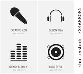 set of 4 editable mp3 icons....