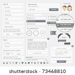 web design elements set   Shutterstock .eps vector #73468810