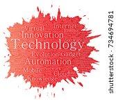 vector conceptual digital smart ... | Shutterstock .eps vector #734694781