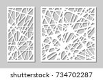 set decorative panel laser... | Shutterstock .eps vector #734702287
