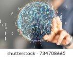 digital network | Shutterstock . vector #734708665