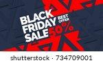 black friday. big sales. trendy ... | Shutterstock .eps vector #734709001