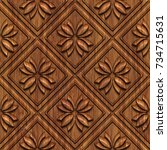 Carved Geometric Pattern On...