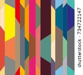 abstract color seamless pattern ... | Shutterstock .eps vector #734722147