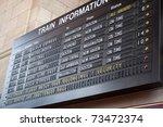 A Schedule Board In A Train...