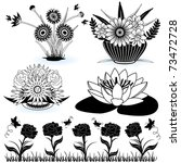 collection of flowers 3 | Shutterstock .eps vector #73472728