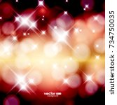 vector winter bokeh background. ... | Shutterstock .eps vector #734750035