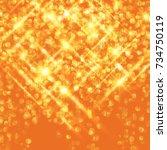 vector golden glittering... | Shutterstock .eps vector #734750119