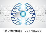 vector abstract human brain on... | Shutterstock .eps vector #734756239