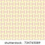 seamless vector pattern   bones ... | Shutterstock .eps vector #734765089