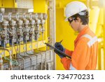 electrician and instrument... | Shutterstock . vector #734770231