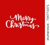merry christmas card | Shutterstock . vector #734771071