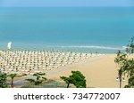 beach of black sea from albena  ... | Shutterstock . vector #734772007