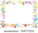 border of memphis round...   Shutterstock .eps vector #734777251