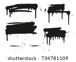 spray paint abstract vector... | Shutterstock .eps vector #734781109
