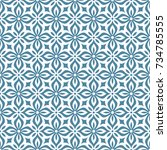 seamless ornamental pattern... | Shutterstock .eps vector #734785555