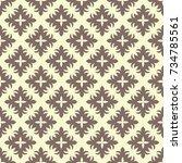 seamless ornamental pattern... | Shutterstock .eps vector #734785561